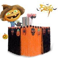 Faroot Halloween Tabella pannello esterno del partito decorazioni Nylon Mesh nero arancione con striping W / gancio