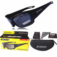 Polarized ESS Credence Sunglasses Black Frame 2 Lens Cool Cy...