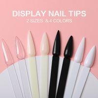 Stilett nagel swatches pinnar fläktformad nagelkonst falskt tips färgkort gel nagellack display bräda avtagbar övning pinnar hjul