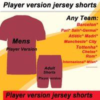 Link para encomenda do clube e equipe de futebol nacional Nik jogador Versão Versão Soccer Jersey, Shorts (entre em contato conosco antes de fazer o seu pedido)