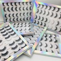 2020 Lashes Falso New 3D falso vison pestanas falsas naturais 16Pairs longo Mink Cílios Volume Grosso Pestanas Fluffy mágicas para as Mulheres Beleza
