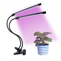Timing Dimmable Équipement lumière clip usine Lumière Double de croissance des plantes de remplissage lumière noire pour intérieur