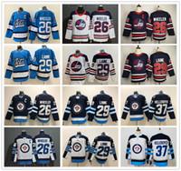 2020 Winnipeg Jets Hockey 26 블레이크 휠러 저지 최고의 품질 29 Patrik Laine 37 Connor Hellebuyck 유니폼 새 유산 클래식 아이스 하키