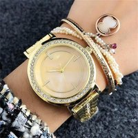 36mm Girl crystal Dial steel metal band Quartz Watches Luxur...