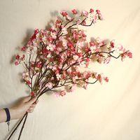 3PCS / LOT زهرة الديكور الزهور 97CM محاكاة الكرز زهر فرع الاصطناعي المنزل زفاف الكرز وهمية فلوريس اكليلا من الزهور