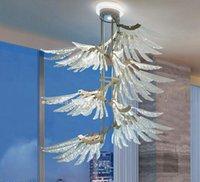 asas do anjo Modeling janela da sala Restaurante Loft Bedroom Villa italiana pós-moderna Nordic simples Candelabro Lâmpadas Luzes pendentes MYY