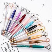 لوازم هدية الإبداعي الكبير الماس كريستال أقلام حبر جاف المعدنية يتوهم كريستال القلم الطلابية مكتب مدرسة التوقيع الأعمال القلم 12 اللون
