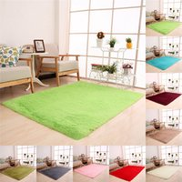 50 x 80cm Soft Fluffy Rugs Anti- Skid Shaggy Area Rug Dining ...