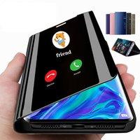 Akıllı Ayna Çevirme Cep Telefonu Kılıfları Uyku Uyku Wake Telefon Kapak iphone 7 8 XR XSMAX 11 12 13 Pro Max Mini Samsung S20