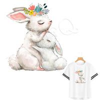 Patch ferro su tessuti sveglio del coniglio Trasferimento Stickers calore Parches T-shirt Badge Abiti Lavabile fai da te Sticker Fornire Ordine Personalizzato