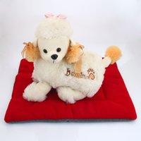 Wasbaar zacht comfortabel zijden wadding bed pad mat kussen voor huisdier rode wijn l Pet House