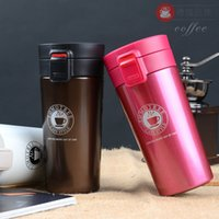 Coffee Mug Thermos Cup 13oz Stainless Steel Water Bottle Double Wall Tumbler Vacuum Insulated Water Bottles With Bounce Lid Car BC BH1383