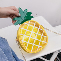 Baby Girls Bags Transparent Pineapple Messenger Bag Lovely F...