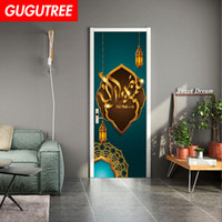 Decorate Home 3D Muslim Lesser Bairam wall door sticker deco...