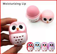 Lippenstift-Organisator Candy Color Owl Shape Feuchtigkeitsspendender Lippenbalsam Natürliche Pflanzenkugel Lippenstift Fruchtgeschmack Lip Pomade Make-up Beauty Kosmetik
