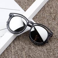 2020 yeni tasarımcı çoklu renkler çocuk moda kaplama sunglasss kız erkek plastik çerçeve UV400 güneş gözlüğü açık sokak retro gözlük ayna