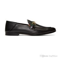 Designer flache beiläufige Mannschuhe Authentische Rindmetallschnalle Luxus Samt Frauen Kleid Schuhe Leder Trampel Faule Bootsschuhe Größe 41-42-46