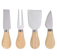 4 قطعة / المجموعة الجبن أدوات مفيدة مجموعة البلوط مقبض سكين شوكة مجرفة عدة بشر لقطع الخبز تشيس مجلس مجموعات LX6548