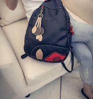 Moda tendência all-in-one fã de beleza feminino saco han versão elegante charme mochila mochilas de cor saco de lazer vento urbano