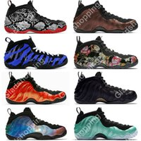 Air One Snakeskin Tiger Stripes Floral Pro Hyper Crimson Uomo Scarpe da basket Sneaker Penny Hardaway Baskets Ball Chaussures scarpe firmate