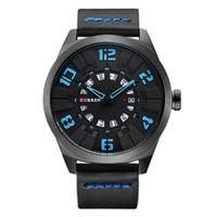 Moda Relojes Hombres Dial cuarzo ocasionales de cuero reloj del negocio de CURREN Relojes Hombre 2018 nueva llegada del reloj impermeable