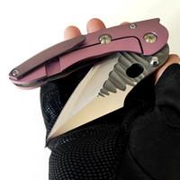 Limited Personalizzazione Versione Stitch Folder Borka Pieghevole Knife Alta durezza Rock Grind M390 Blade Blade Violet Titanium Maniglia Outdoor Caccia EDC Strumenti tattici