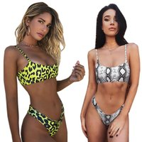 Yılan derisi Bikini Bayan Mayo Leopar Bikini Sexy biquini Swim Suit Push Up Mayo Kadın Beachwear Yüzme Bikini Kadınlar