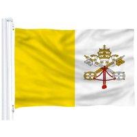 Ватикан Флаг 3x5 футов Горячей Продажа Полиэстер Страна Национальных Флагов Vatican Дешевой Цена шелкография Nation Флаг для продажи