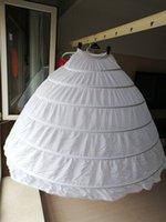 플러스 사이즈 대형 스틸 웨딩 가방 6 신부 드레스 여분의 슬라이딩 스틸 화이트 6 농구 Petticoat Crinoline Slip Petticoat