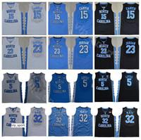 شمال كارولينا القطران الكعب كلية فينس كارتر جيرسي 15 مايكل 23 لوك ماي 32 ناصر ليتل كرة السلة جيرسي 5 أسود أزرق أبيض
