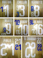 18 19 Italia stampa nomi di calcio BUFFON PIRLO BELOTTI 2018 Italia timbro del giocatore adesivo numerazione stampata lettere di calcio impresse