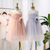 Girls lace hollow embroidery cake dress kids beaded stereo c...