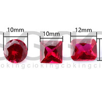 Ruby Diamond Insert Ruby Square Rectangel Round For 10mm14mm 18mm Beveled Edge Quartz Banger Nails Carb Cap Water Bongs Oil rig