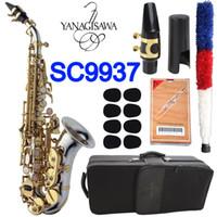 Japan böjd sopran saxofon yagisawa sc-9937 sc-wo37 b platt silvering guld nyckel sax böjd sopran musikinstrument professionell