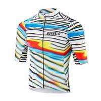 2019 Mens Morvelo Team Cycling Outfits Road Bicycle Jersey Mangas cortas Camisa Summer transpirable MTB Bike Ropa deportiva Uniforme Y052305