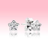 판도라 925 스털링 실버 스터드 귀걸이 세트에 대 한 아름다운 여성 쥬얼리 원래 로고 상자 아름다운 크리스탈 작은 귀걸이