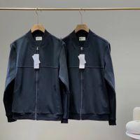 남성 겨울 자켓 폴로 악어 지퍼 까마귀 봄 가을 프랑스 남자 까마귀 비즈니스 캐주얼 스탠드 칼라 재킷