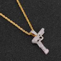 New Hip Hop Gold silver Color Plated Copper Iced Out Micro P...