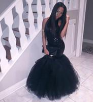 Black Girl Girl Robes De Chambre à col de Halter Top Sirène Dossier Dubaï Fiesta Longue Geode de fête
