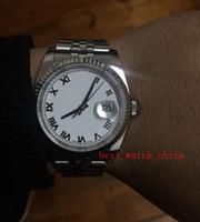 2019 neue 36mm Ankommen Luxus männer Uhren 116234 Saphirglas Sport Mechanische Hochwertige weiße römische Uhren