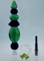 QBsomk Nektar Kollektör Seti Ile Titanyum Tırnak Yeni Tasarım 14mm Nector Toplayıcı Yağ Kuyuları Cam Su Cam Bong Ücretsiz Kargo