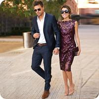 Мужские костюмы темно-синие свадебные костюмы на заказ лучший человек блейзер повседневная Slim Fit жених жених одежда выпускной костюм 2 шт смокинги куртка+брюки