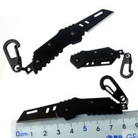 Bomber Nano Blade-Mini-Messer Schweizer taktisches Messer Lagerstahl im Ruhestand Klappmesser Schlüsselanhänger Camping Outdoor-Jagd-Messer Werkzeuge