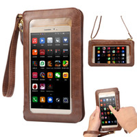 NEW Ledertasche Touch Screen + Kleine-Schulter Crossbody Beutel + Mappen-Beutel für iPhone 5 5s SE 6 6s plus 4 4s Handys Bag