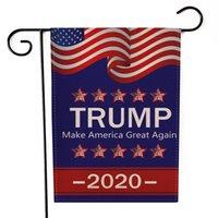 Donald Trump 2020 Garden Flag 47 * 32CM Brief drucken Flags USA American Star gestreifte Flaggen Präsident General Election Banner LJJA3490-2