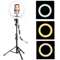 YouTube maquiagem preenchimento de iluminação vídeo vivo tiroteio led anel luz 10 polegadas com titular do telefone tripé de tripé selfie círculo tikok lâmpada tikok