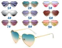Sommerfrau Liebevolle Herz Sonnenbrille Fahren Sonnenbrillen Damen Marke Mode Sport Augenabnutzung Oculos Neue Marke Sonnenbrille 9Farbe Freies Schiff