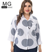 MG 2019 Summer new arrival Plus Size womens Chiffon tops and...