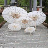 Mariage de mariée Parasols Papier Blanc Parapluie Chinois Mini Craft Parapluie 4 Diamètre 20 30 40 60cm Parapluies de mariage pour la vente en gros