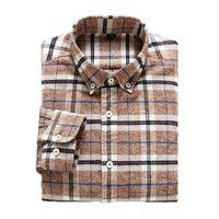 Мужские повседневные рубашки Aoliwen бренд мужские фланелевые рубашки плед тонкий щеткой с длинным рукавом одежда мягкая и удобная